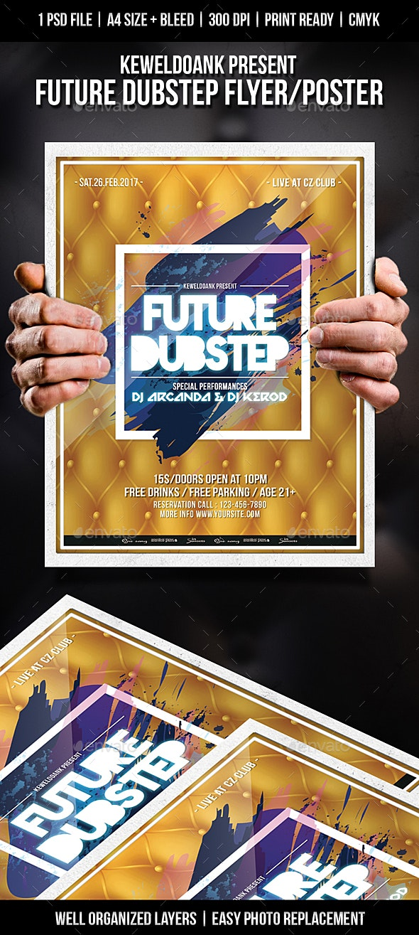 Future Dubstep Flyer / Poster - Clubs & Parties Events