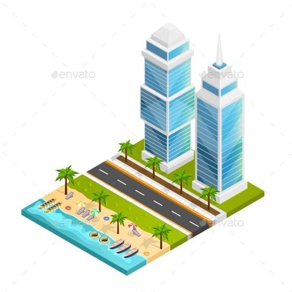 City And Beach Concept