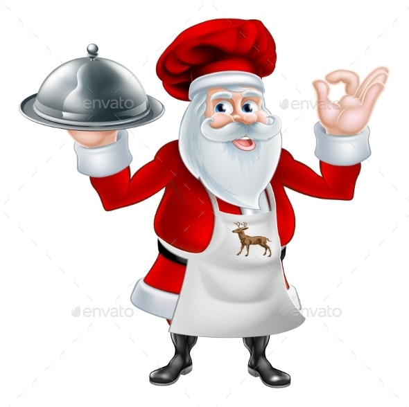 Christmas Santa Cook Chef - Food Objects