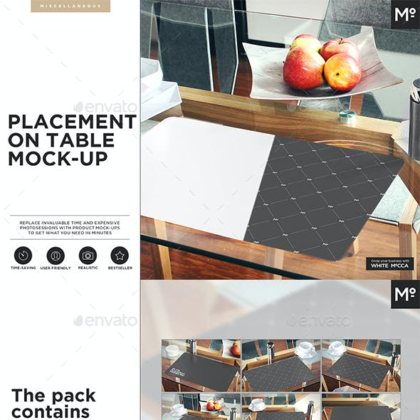 The Placemat on the Table Mock-up