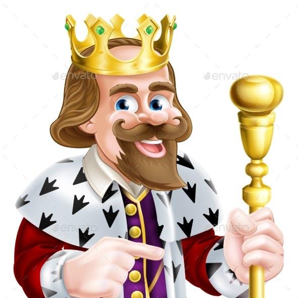 Cartoon King Pointing