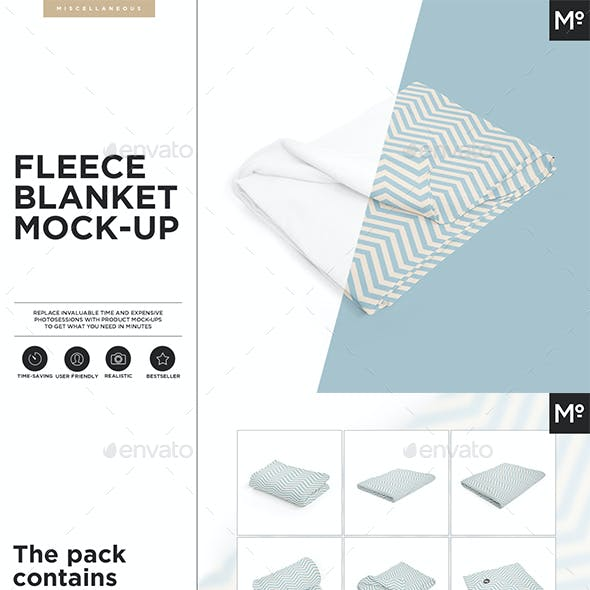 Fleece Blanket Mock-up