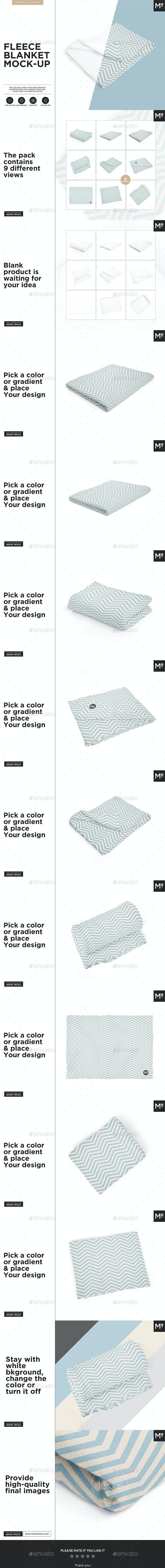 Fleece Blanket Mock-up - Miscellaneous Product Mock-Ups