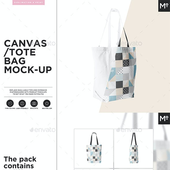 Canvas Tote Bag Mock-up