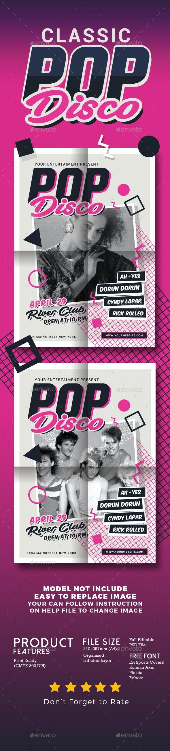 Classic Pop Disco - Events Flyers