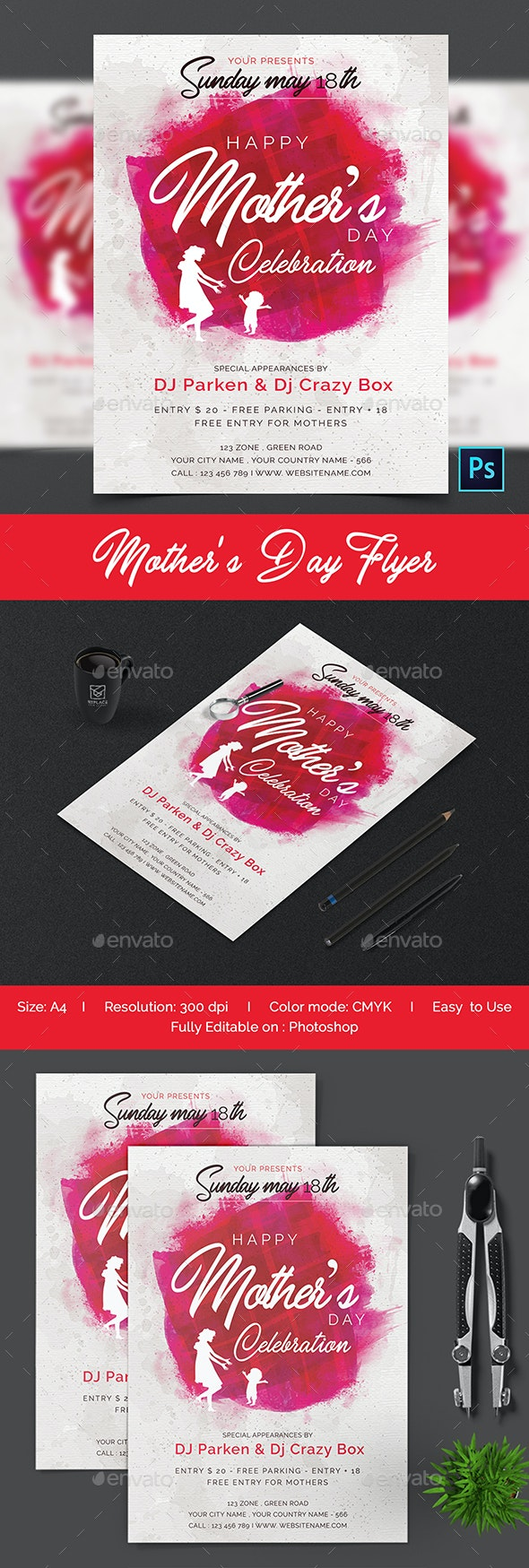 Mothers Day Flyer - Flyers Print Templates