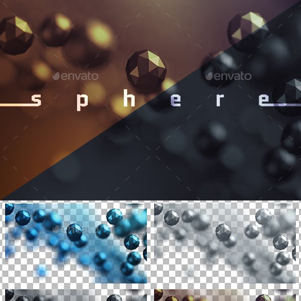 Abstract Low Poly Spheres, Transparent PNG