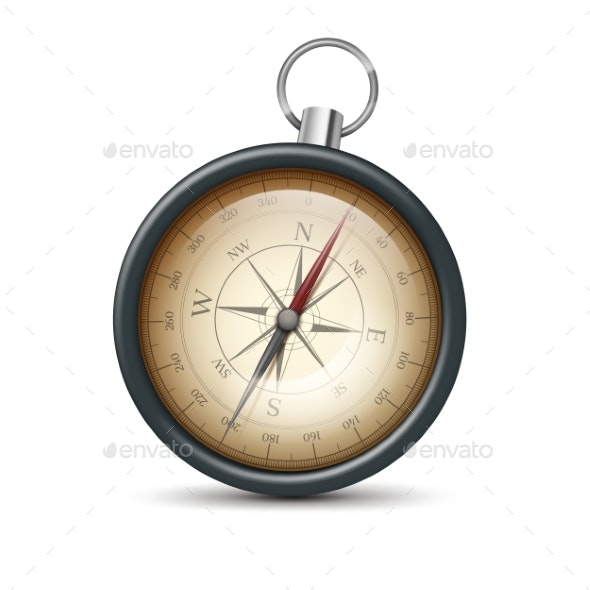 Retro Metal Compass - Miscellaneous Vectors
