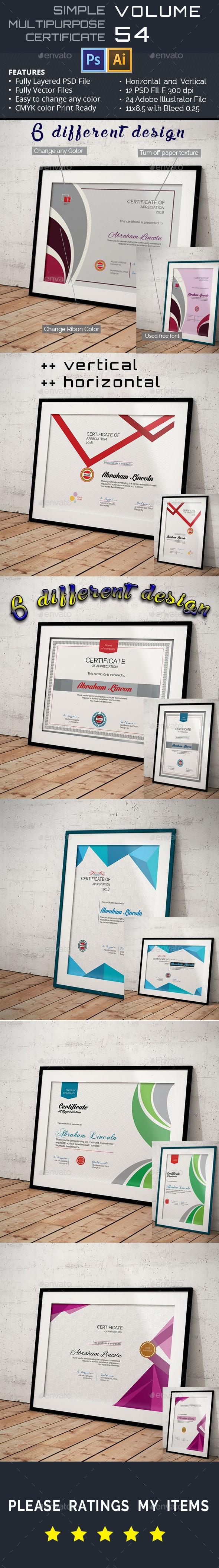 Multipurpose Certificate GD054 - Certificates Stationery