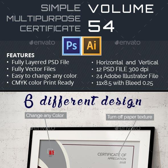 Multipurpose Certificate GD054