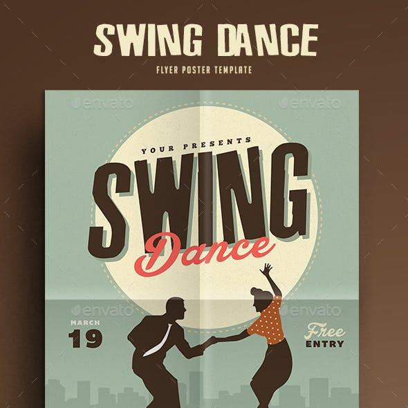 Retro Swing Dance Party Flyer
