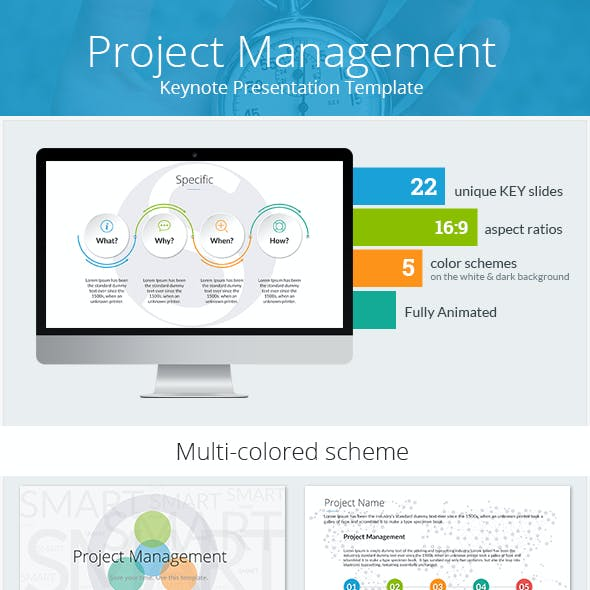 Project Management Keynote Presentation Template