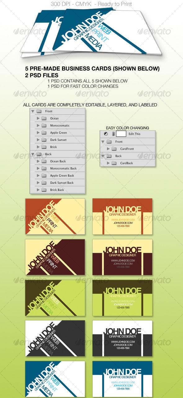 Cutting Edge Business Card - Creative Business Cards