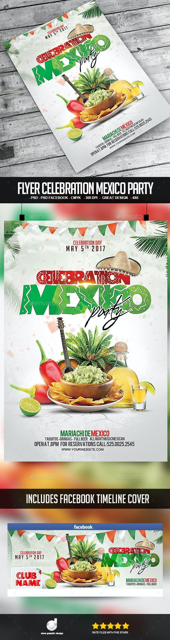 Flyer Celebration Mexico Party - Clubs & Parties Events