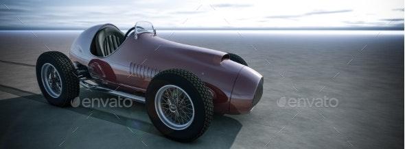 Racing Car 3D Render - 3D Backgrounds