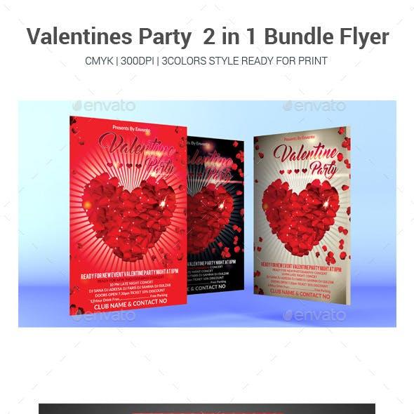 Valentines Party  2 in 1 Bundle Flyer