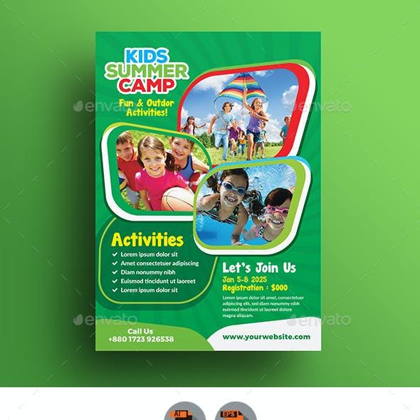 Kid's Summer Camp Flyer