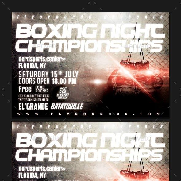 Boxing Night Championships Sports Flyer
