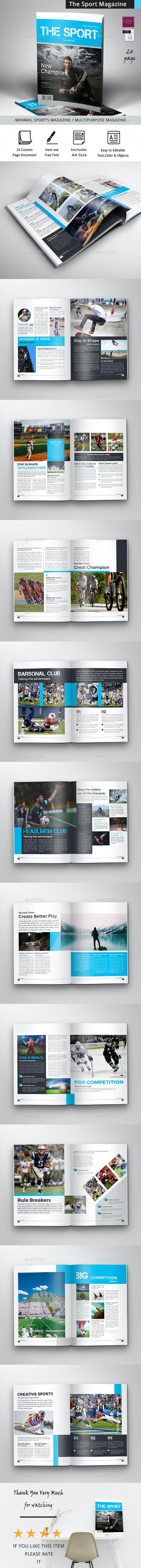 The Sport Magazine - Magazines Print Templates