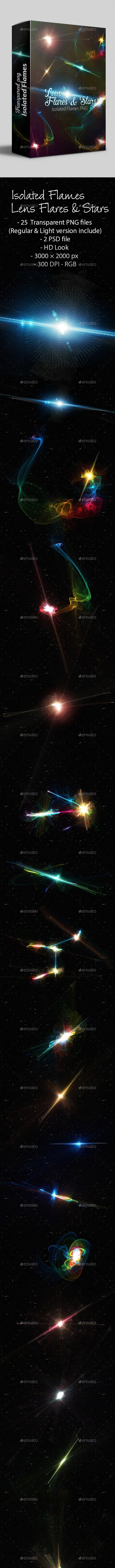 Lens Flares & Stars - Miscellaneous Backgrounds