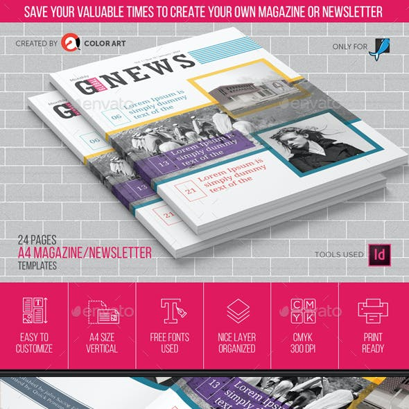 Magazine Newsletter Templates V.1