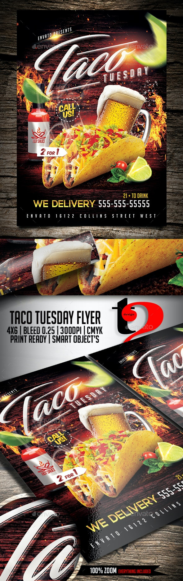 Taco Tuesday Flyer Template - Clubs & Parties Events