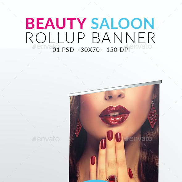 Beauty Salon Rollup Banner