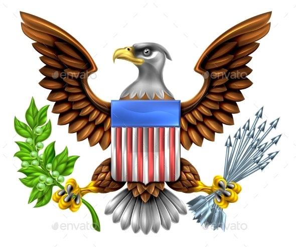 American Shield Eagle Design - Miscellaneous Vectors