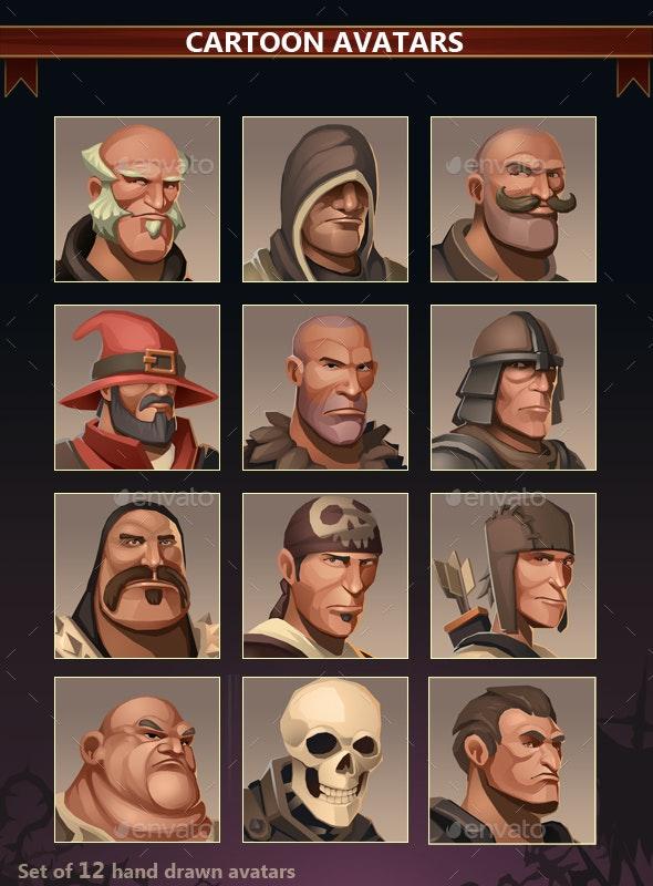 Cartoon Avatars - Miscellaneous Game Assets
