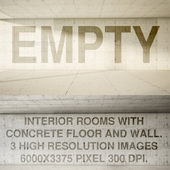 Empty Interior Frontal Concrete
