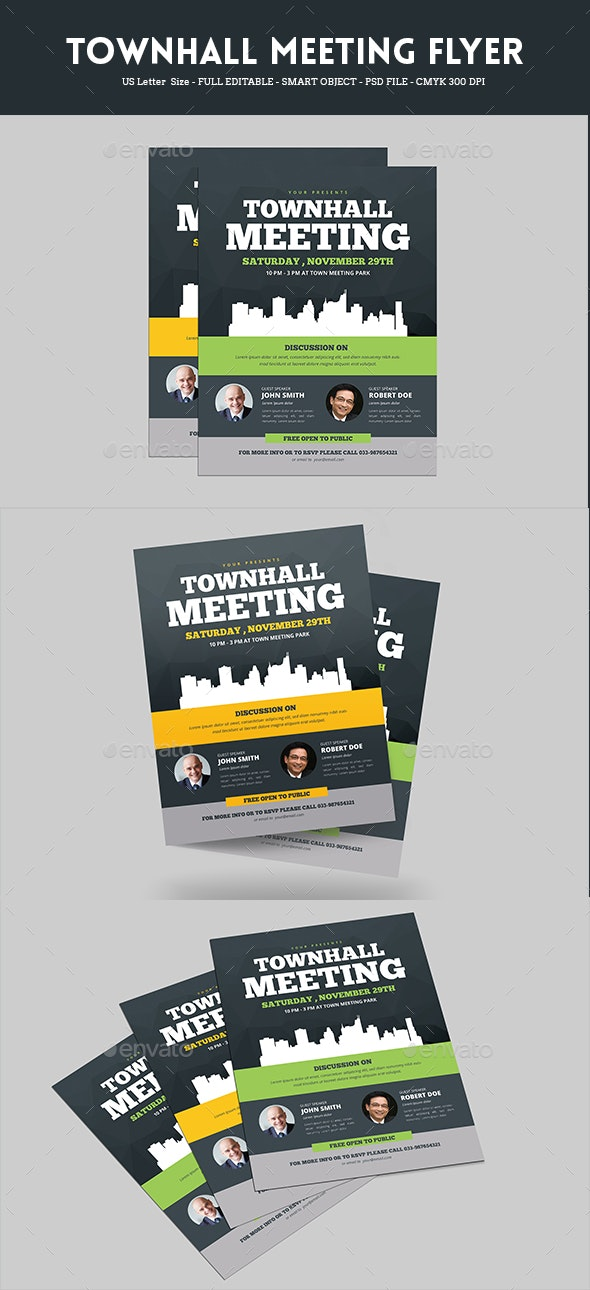 Town Hall Meeting Flyer - Corporate Flyers