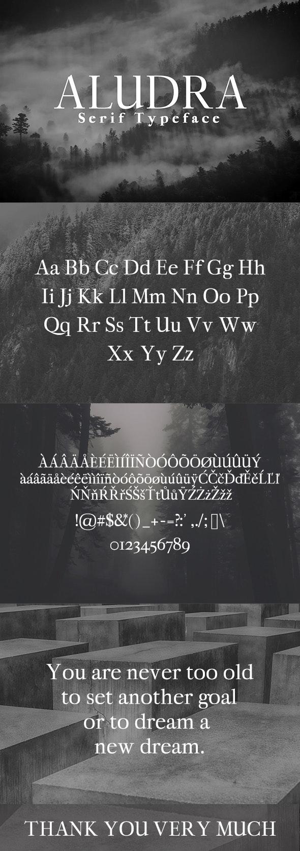 Aludra Serif Typeface - Serif Fonts