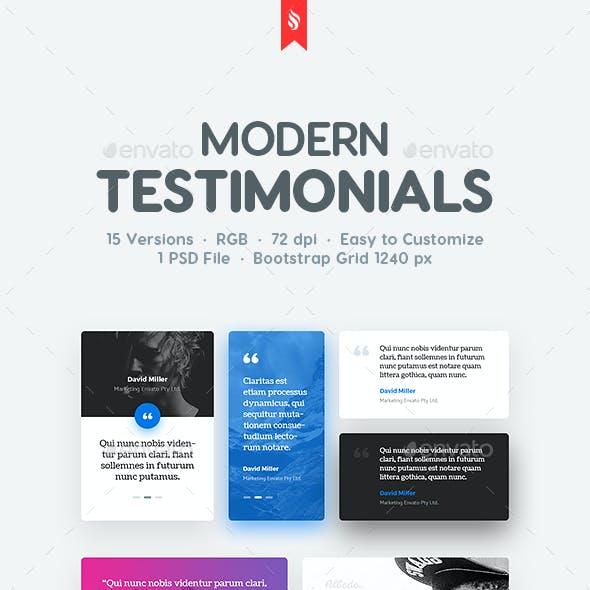 Clean and Modern Testimonials