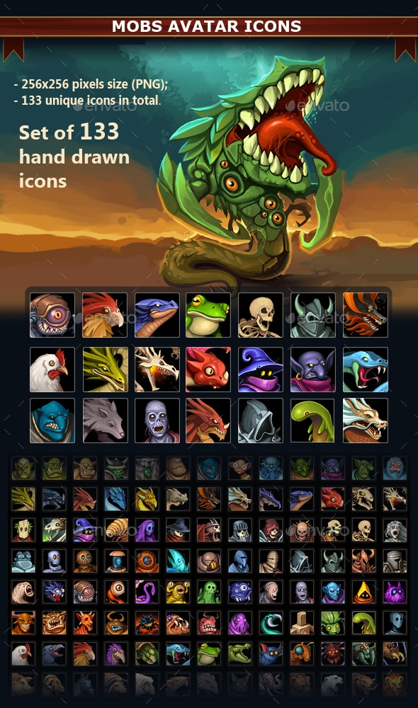 Mobs Avatar Icons - Miscellaneous Game Assets