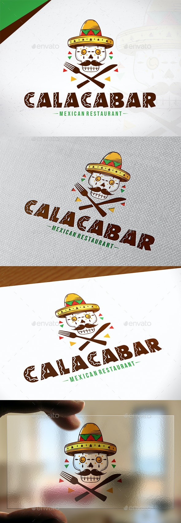 Calaca Bar Logo Template - Restaurant Logo Templates