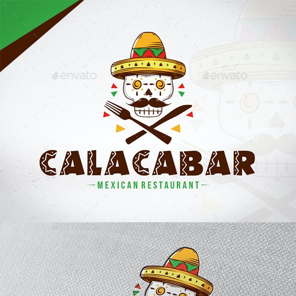 Calaca Bar Logo Template