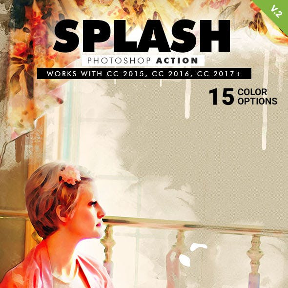 Splash Art Photoshop Action V.2