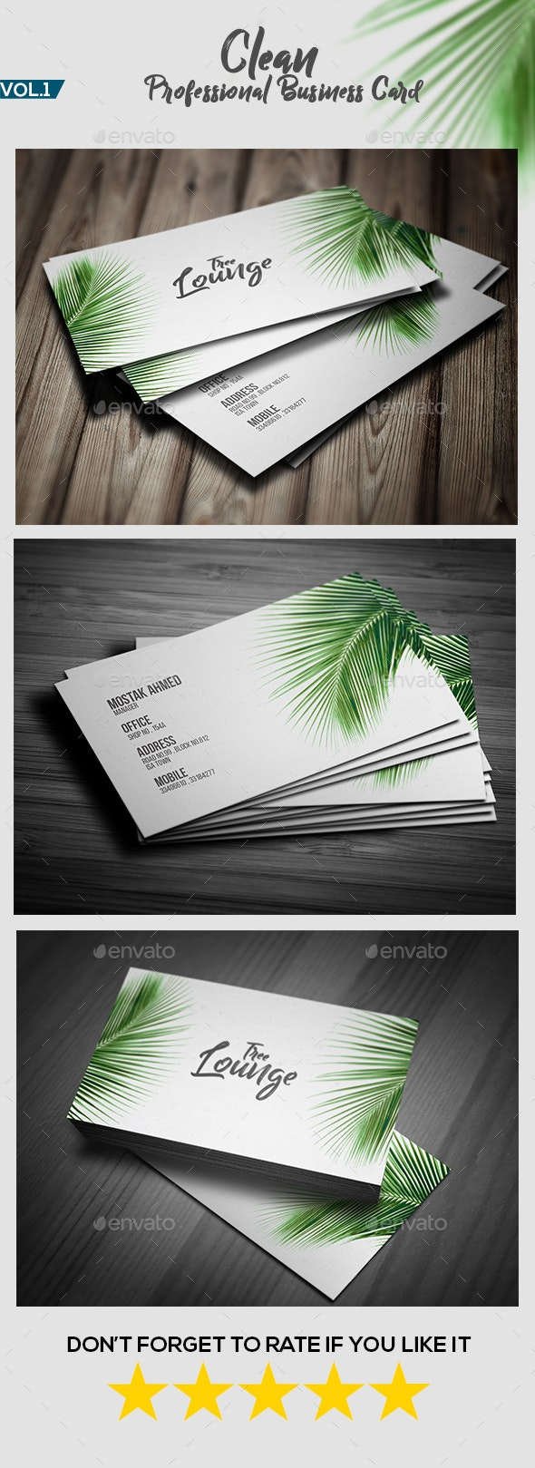 Clean Professional Business Card V.1 - Creative Business Cards