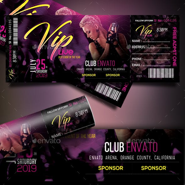 VIP Live Event Tickets Template