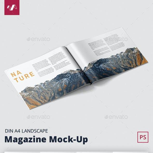 Magazine Mockup - A4 Landscape