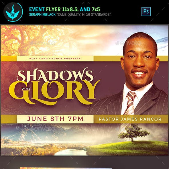 Shadows of His Glory Church Flyer Template