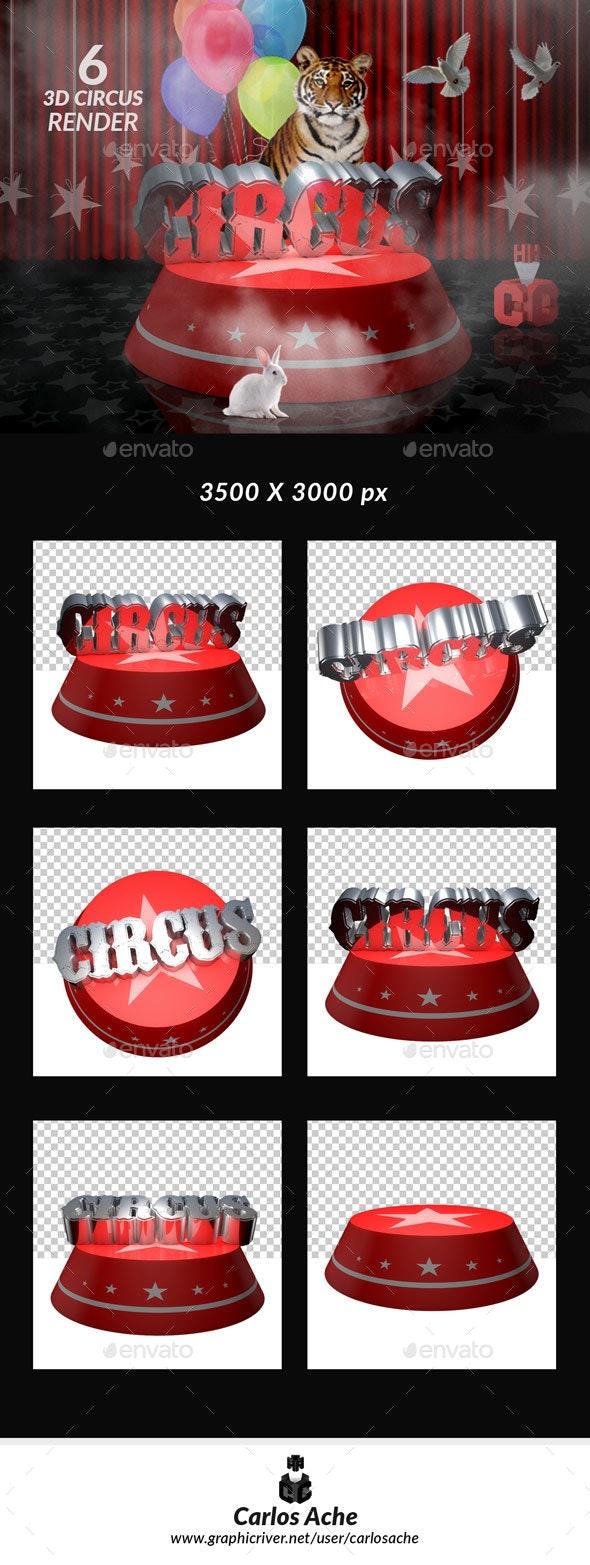 Circus 3D Render - 3D Renders Graphics