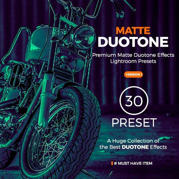 30 Matte Duotone Premium Lightroom Presets | Portrait