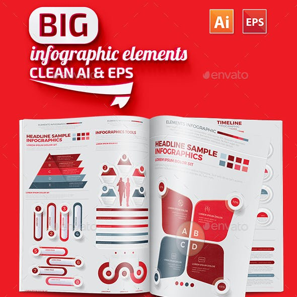 Red Infographics Design