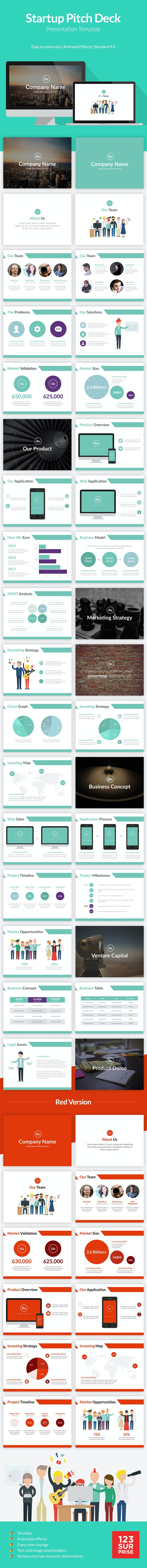 Startup Pitch Deck Template - Business Keynote Templates
