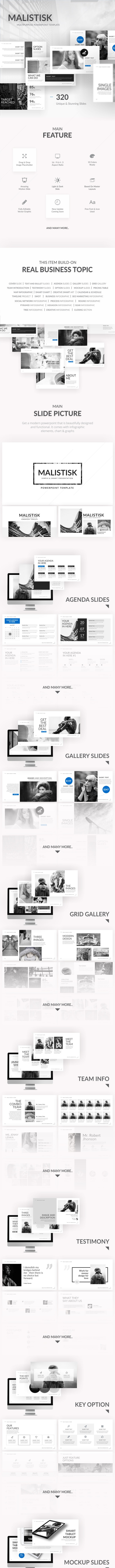 Malistisk - Multipurpose Powerpoint Template - Business PowerPoint Templates