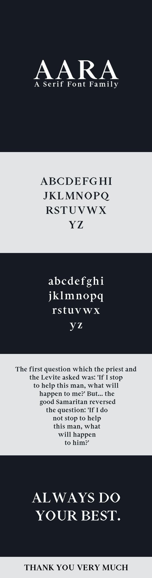 Aara Serif Font Family - Serif Fonts
