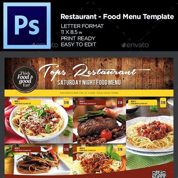 Restaurant Menu - Food Menu Flyer Template