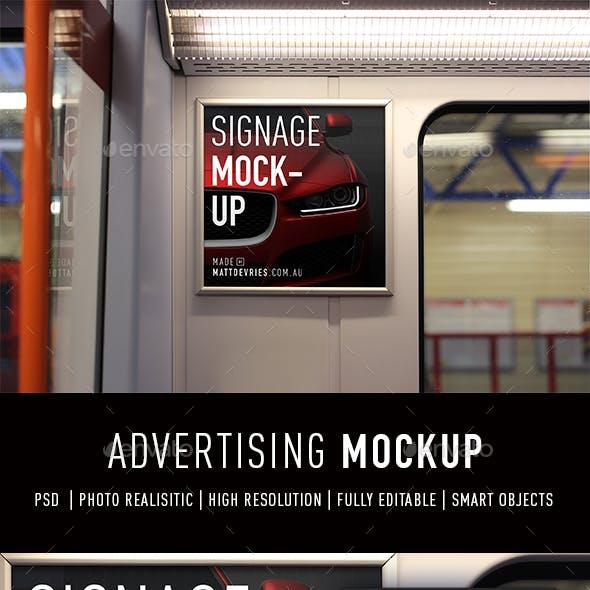 Smart Advertising Mockup PSD Template