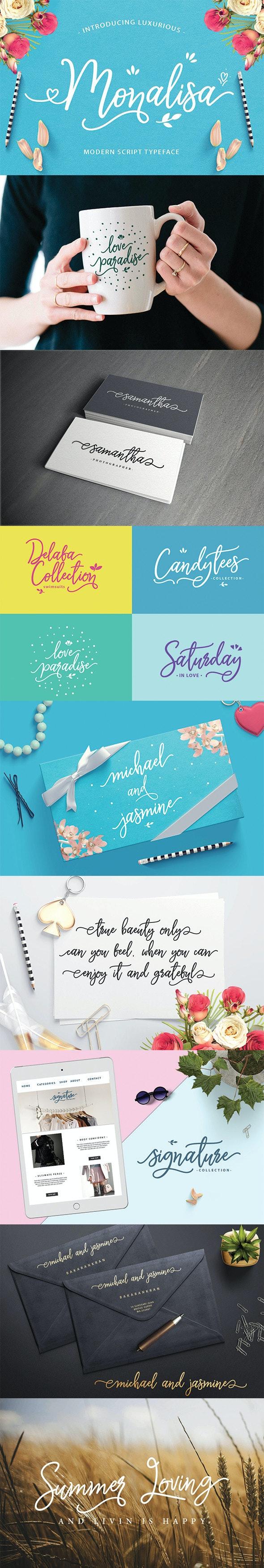 Monalisa Font - Hand-writing Script